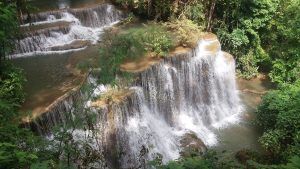 Huay Mae Khamin waterfalls Kanchanaburi Thailand